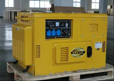 KDE12T Air Cooled Silent Diesel Generator , Silent Power Generator Portable